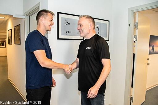 Velkomst til klient hos Rygklinik Sjælland
